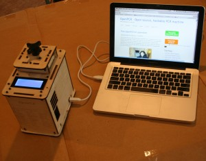 OpenPCR PCR machine connected to Mac with Arduino